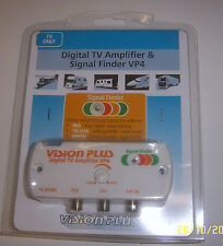 Vision Plus VP4 Digital Amplifier & Signal Finder 4 Caravan Television Aerial TV