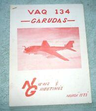 VAQ 134 GARUDAS NEWSLETTER ELECTRONIC ATTACK SQUADRON 1973 WHIDBEY ISLAND