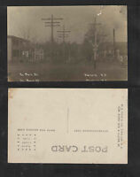 1910s NO MAIN ST WARNERS NY RPPC REAL PICTURE POSTCARD GREAT RAILROAD CROSSING
