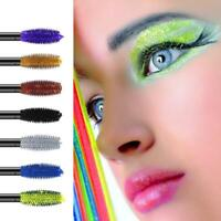4D Silk Fiber Lashes Mascara Waterproof Colorful Curling Eyelash Extension Thick