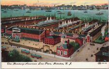 Hamburg-American Line Piers Hoboken NJ New Jersey Postcard E49