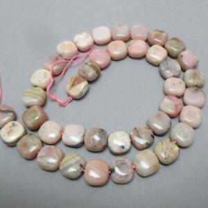"15.75"" strand of Pink Peruvian Opal, puff Square Beads, 10mm"