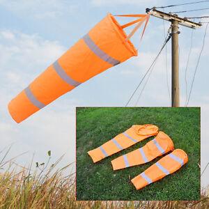 """Reflective Belt + 30""""40"""" 60"""" Airport Windsock Rip-stop Outdoor Wind Measurement"""