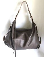 Designer Soft Pebble Brown Leather Handbag Purse Satchel by Tammi Lyn