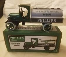 Ertl Jmt Replicas Die-Cast Metal Phillips Gasoline Motor Oil 1925 Tanker Bank