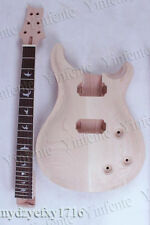 New Unfinished electric guitar neck Mahogany & Body Solid wood guitar parts #10