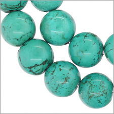 """17 Howlite Magnesite Round Beads 12mm 8"""" Turquoise Blue #83013"""
