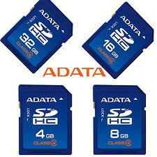 ADATA 4GB/8GB/16GO/32GB carte SD Classe 4 SDHC Memoria Caméra GPS Tablette