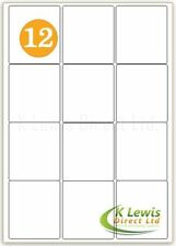 x100 12 per A4 Printer Labels Self Adhesive Stickers L7163 – J8163