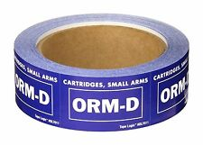 """500 Roll of Cartridges Small Arms ORM-D DOT Blue Label 2 1/4"""" x 1 3/8"""" Stickers"""