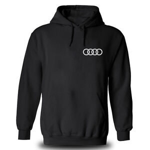 Genuine Audi tt Sport Car Racing Streetwear Motorsport Black Hooded Hoodie