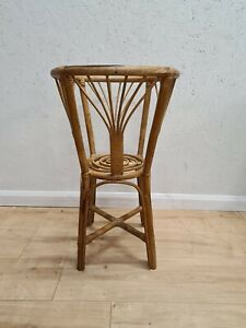 VINTAGE BAMBOO PLANT STAND TABLE