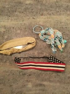 Lot Of 3 JUSTICE Limited Too Hair Accessories Hair Ties / Headbands Pony Tail