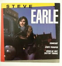 "Steve Earle Someday Maxisingle 12"" USA 1986             Bruce Springsteen"