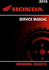 2015 2016 Honda CBR300 CBR 300 CBR300R CB300F service manual on CD