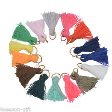 50PCs Mixed Color Mini Tassel DIY Earing Necklace Garment Accessories 1.5cm