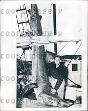 1946 Fisherman With 1000 lb Catch of Basking Shark Atlantic City NJ Press Photo