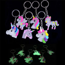 Luminous Unicorn Horse Key Chain Ring Bag Glow in the Dark Keyring Jewelry Chic~