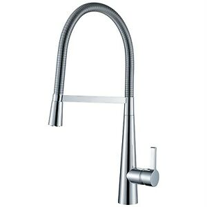 Large Kitchen Sink Mixer Tap Single Lever Swivel Spray Spout Chrome Modena