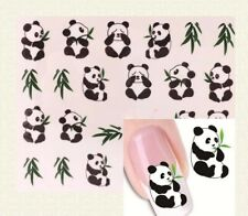 xf 1237 panda nail art water transfers stickers 3