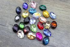 36pcs 14x10mm rhinestone point back oval shape crystal glass beads DIY gem stone