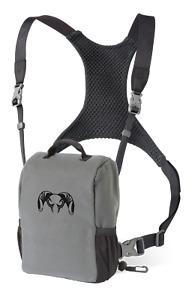 Kuiu Hunting Camo Bino Harness Binocular Chest Shoulder Rig Stone Grey Large L