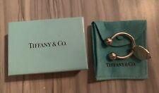 22g. Tiffany & Co. Horseshoe Sterling Silver 925 Key Chain Key Ring W/ Bag & Box