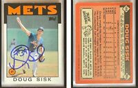 Doug Sisk Signed 1986 Topps #144 Card New York Mets Auto Autograph