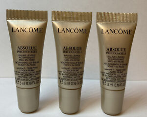 Lancome ABSOLUE PRECIOUS CELLS Nourishing Lip Balm Honey-in-Rose 3 * 5ml NEW
