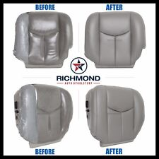 2004 Silverado 1500HD LT LS 4x4 2WD -Driver Side Bottom LEATHER Seat Cover Gray