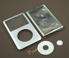 silver faceplate back case housing clickwheel button for ipod classic 7th 160gb