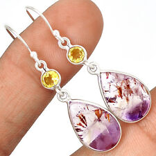 Cacoxenite Super Seven Mineral Melody Stone 925 Silver Earrings Jewelry EE29248