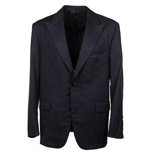 Oxxford Regular-Fit One Button Peak Lapel Black Wool Tuxedo 40R Suit