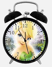 """Disney Tinkerbell Alarm Schreibtisch Uhr 3.75"""" Zimmer Dekor X56 Nizza für Geschenke aufwachen"""