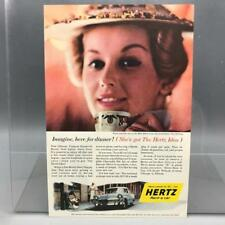 Vintage Magazine Ad Print Design Advertising Hertz Rental Cars New Orleans