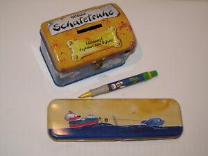 Set DIDDL Block Karten Blechdosen Kugelschreiber Spardose Stiftebox Verzeichnis
