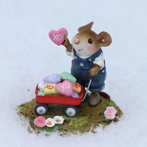 Wee Forest Folk Valentine's Day Figurine M-706b - Loads of Love Blue