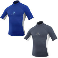 Legacy Mens Short Sleeve Rash Vest Guard Lycra UV 50+ Protection Kayak Surf