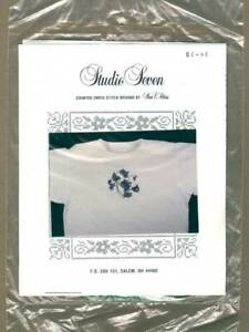 Studio Seven BC-46 Violets Counted Cross Stitch Kit Waste Canvas