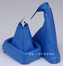 Schaltsack + Handbremssack passend für OPEL CALIBRA Bj. 90-97  Echtes Leder BLAU