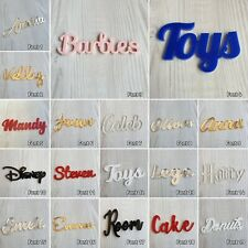 Personalised Script Names Words Bespoke Letters Plaque ACRYLIC PLASTIC MIRROR