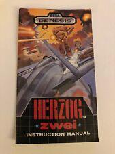 Herzog Zwei Sega Genesis Manual Only Authentic Original Good Condition