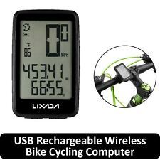 Lixada USB Rechargeable Wireless Bike Cycling Computer with Cadence Sensor U2B6
