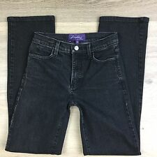 NYDJ Not Your Daughter's Jeans Black Straight Womens Jeans Size 4 W26 L30.5 (Z8)