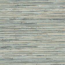 Bleu Gris Faux Grasscloth Papier Peint NT33703