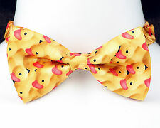 Rubber Duckies Mens Bow Tie Adjustable Fun Fashion Necktie Yellow Duck Gift New