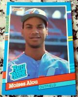 MOISES ALOU 1991 Donruss RATED Rookie Card RC 1997 Marlins Champs 332 HRs HOT $$