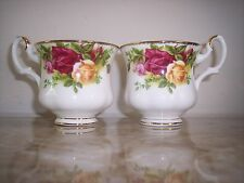 RARE New Two ROYAL ALBERT Old Country Roses Coffee Cups 1962