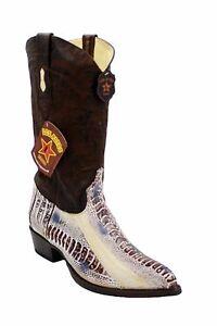 Men's Genuine Ostrich Leg Biker Cowboy Western Los Altos Boots Handmade