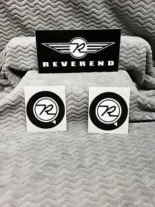 Reverend Guitars 3 Sticker Set<>ORIGINAL<>GENUINE